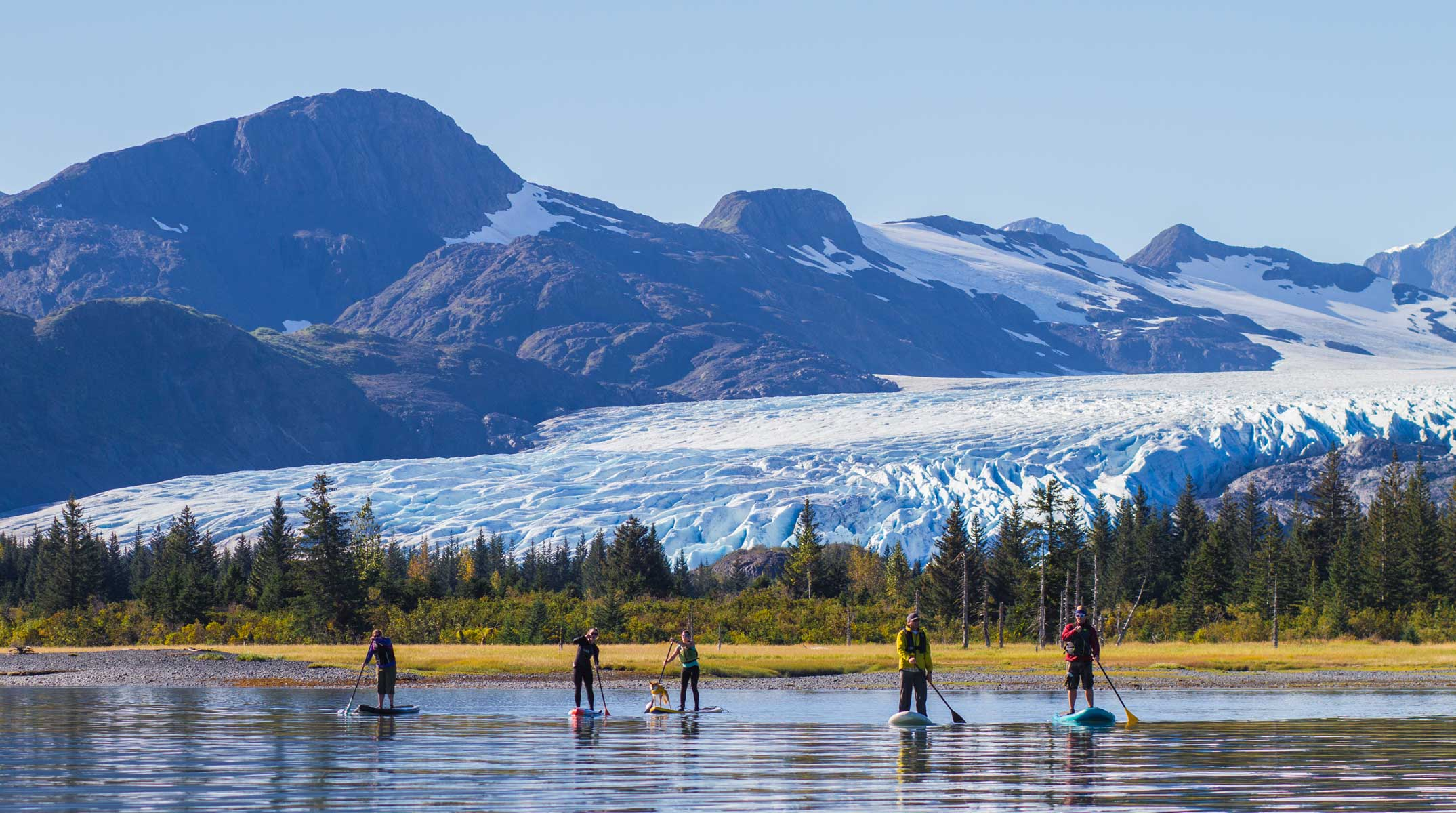 Alaska Paddleboarding boat trip - Prince William Sound Whittier Alaska